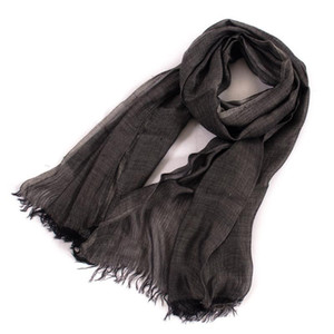 solid color crinkled wool blended scarves women men fashion thin long cotton linen artsy scarf shawl wraps bufanda