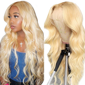 Ishow Transparent Lace Part Wig Brazilian Body Wave 13*1 Human Hair Lace Front Wigs Blonde Color 613 Human Hair Wigs Peruvian Straight