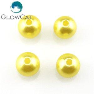 100 pcs 6/8 / 10mm em torno de imitação de pérolas pérolas diy beads de buraco colorido artesanal para brincos de colar jóias fazendo wmtvfp dh_garden