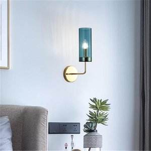 1 2 Head Nordic Minimalist Style Glass Wall Lamp Concise Living Room Bedroom Background Wall Balcony Aisle Bedside Light