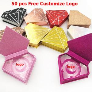 3D Mink Eyelashes Box Free Customize Logo False Eyelash Case Mink Lashes Package Diamond Lash Boxes Custom Logo Packaging Box Makeup Tool
