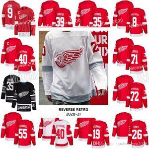 Detroit Red Wings 2021 Retro Retro Dylan Larkin Andreas Athanasiou Nyquist Valtteri Filppula Anthony Mantha Tyler Bertuzzi Filip Jersey