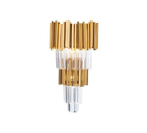 High Quality Plating Modern Wall Sconce Lamp Luxury Gold Wall Light Fixtures Bedside Living Room Lamps