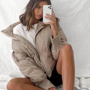 2020 Winter Thick Warm Snow Parka Coat Women Solid Jacket Outwear Female Casual Loose Black Short Parkas