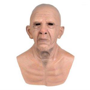Старик Hallowen Mask Realistic Латекс Хэллоуин Костюм Вечерние реквизиты Маски для головной экипировки M091