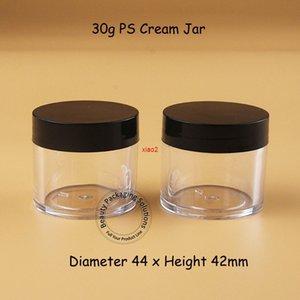 Bom Qualtity30pcs / lote Plástico 30G PS Cream Jar Mulheres Recipiente Cosmético 1oz Viagem Viagem Portátil Frasco Facial Pequeno frasco