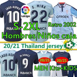 Jerseys de football rétro 2002 2004 RC Celta de Vigo Hommes Kits pour enfants 20 21 Camiseta Chándal de Futbol Iago Aspas S.Mina Denis SUÁrez SUÁRez Football Shirt
