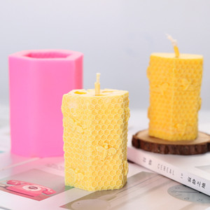 Cute 3D Bee Silicone Mold Handmade silicone Soaps Bee Wax Candles Resin Mold candle Soap Craft Tools WQ542