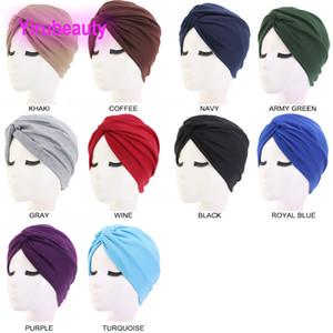 New Style Cotton Cross Indian Hat Cappello turbante Cappello Twist Twist Cappello Europeo e Americano Popolari Capelli Cappucci Capelli
