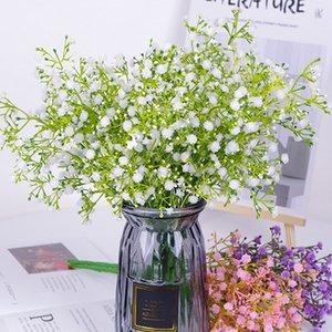5 branches bouquet babysbreath artificial plastic flowers home decoration DIY fake gypsophila wedding graden arrangement decor