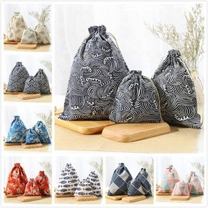 11 Styles reusable cotton and linen shopping bags 3pcs lot environment storage bags durable toy storage bag for home storage DDC4141