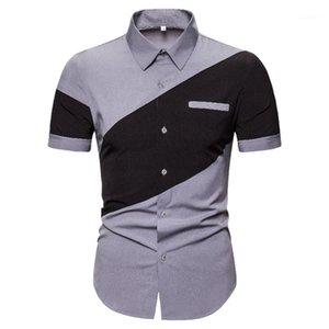 Tees Casual Maschi Abbigliamento Summer Mens Designer Polos Fashion Manica corta Collo collo in pannelli ansimarci