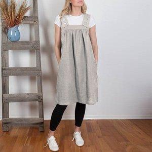 Frauen Solide Lose Taschen Schürzen Schürzen Kleid Für Küchenkellner Kochen Kreativen Koch Backen Verstellbare Halfter Schürze 19APR18 Y200103 S