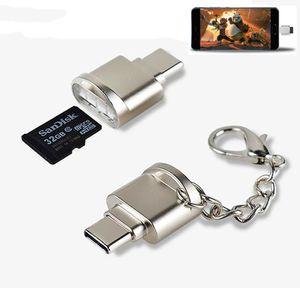 휴대용 USB 3.1 유형 C 카드 리더 USB-C TF 마이크로 SD OTG 어댑터 Samsung MacBook 용 Microom Memory Card Reader Huawei Letv