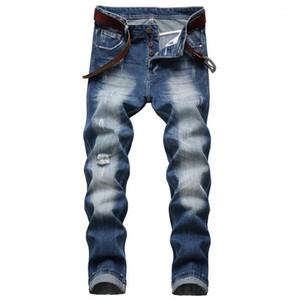 2020 New Mens Ripped Jeans Casual Skinny slim Fit Denim Pants Biker Hip Hop Jeans1