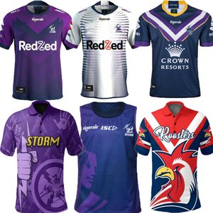 Top New 2020 2021 Melbourne Sturm Souvenir Edition Rugby Jerseys Rugby League Jersey 20 21 Melbourne Home Away Lila Casual Polo S-5XL