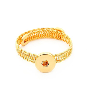 Gold2 Colors B276 Unisex Bohemian18mm Metal Snap Button Bracelet Carter Love Bangle Wrist Watches For Wome bbyOQw