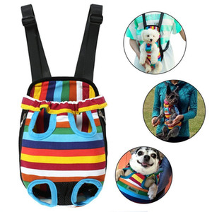 New Pet Carrier Dog Front Chest Backpack Five Holes Backpack Dog Outdoor Carrier Tote Bag Sling Holder Unicorn Canvas Cat Puppy Dog Carrier