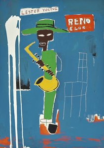 Jean Michel Basquiat Oil Painting On Canvas Graffiti Art In The Wings Wall Art Home Decor Handpainted &HD Print 191016