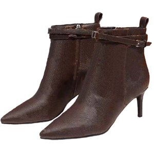 Hot Sale martin cowboy booties High Heels Ankle Boots Classics Exquisite Leather Women fashion Boots And Genuine Outdoors boots