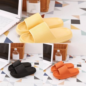 guUPW Comfortable Pure Color desinger fur fluffy slide Slip outdoor striped mens Home Furnishing designer slippers woman casual beach