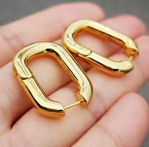 des boucles d'oreilles امرأة الخواتم الذهب هوب البيضاوي أقراط معدنية السيدات شخصية بسيطة والمجوهرات الفاخرة النساء أقراط النساء المصممين