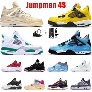 nike air retro jordan 4 4s Venda quente Jumpman Designers Womens Mens 4 4S Basquetebol Sapatos CetimJordâniaRetrô Lemon Venom Monsoon Blue Sports Sneakers Trainers