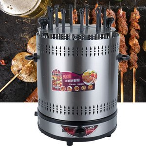 2021 Vertical Electric Bbq Kebab Grill Machine Automatic Rotating Barbecue Smokeless Oven Rotary Household Lamb Skewers