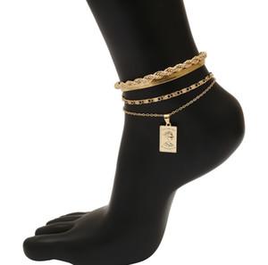Charme Fer Snake Chaîne Nouveau Bracelet Anklet Pour Femmes Hommes Réglable Punk Anklets Accessoires Chaussures Sandales Barefoot Sandales Pieds Bijoux
