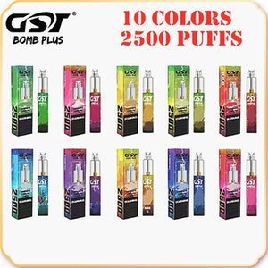 Original GST Bomb Plus Dispositivo Desechable Kit 1200mAh Batería 7ml Pods 2500 Puffs Vape Stick Pen 100% auténtico