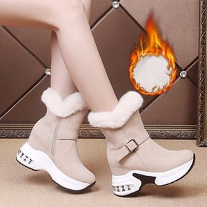 Women Winter Warm Fur Sneakers Platform Snow Boots Women Ankle Boots Female Causal Shoes Ankle For