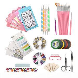 Nail Art Tools Decoration Manicure Pedicure Tool Set Kit Nail Stickers, Beads Rhinestones Stone Gold Metal St