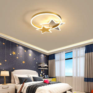 Nordic bedroom ceiling lamp personality creative children's room star decoration light simple modern study warm room lighting RW490