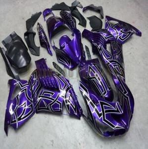 Injection pour Kawasaki zx 14r Zx14r carrosserie ZZR 1400 12 13 16 14 15 corps noir violet carénages Kits Zx14r 2012 2013 2014 2016 2015 + cadeaux