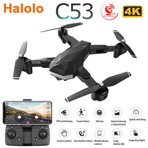C53 5G GPS WiFi FPV RC Drone with 4K HD Dual Camera Follow Me Optical Flow Foldable Professional Helicopter Quadrocopter Kid Toy