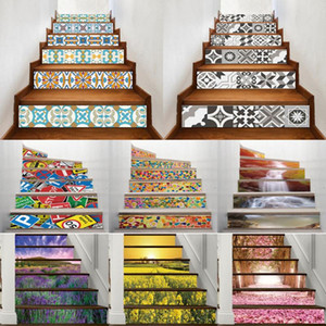 27 Design Mosaic Tile Wall Stair Stickers Self Adhesive Waterproof PVC Wall Sticker Kitchen Ceramic Stickers Home Decoration