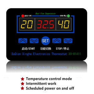 XH-W1411 LCD Display Digital Thermostat Multifunction Temperature Controller Sensor Switch -55~120 Degrees AC 110-220V DC 12V