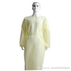DHL Ship Waterproof Isolation Clothes Knits Protective Clothing Disposable Gowns One Time Non Woven Fabric Breathable Protection Suits Sets