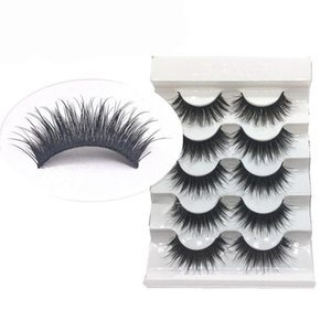 5 Pairs Stage False Eyelashes Fake Eyelash 100% Handmade Comfortable Curly Mink 3D Full Eyelashes Strip Long Natural Makeup