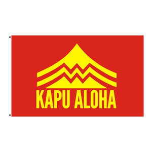 Custom Digital Print 3x5ft Free Drop Shipping Hawaiian Hawaii State KAPU ALOHA Flag Banner with Brass Grommets Outdoor Indoor Decoration