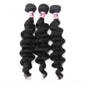 Nami Hair Brazilian Virgin Hair Weaves Loose Deep Wave 3 Bundles 100% Human Hair Extensions Natural Color