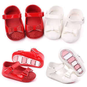 Bambini Bambini Girls Bowknot Shoes First Walkers Bebes Zapatos Ninas Neonato Toddlers PU Leather Shoes Crib Scarpe