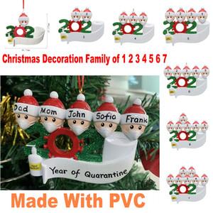Stati Uniti Magazzino Quarantine Christmas Birthday Party Decoration Product Personalized Ornament Famiglia di 1-7 Pandemic Social Distancing FY4265