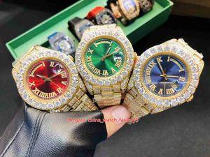 6 estilo Top Quality Watch 41mm Día DIA DIRA PRESIDENTE Pulsera de diamante completo Bezel Asia 2813 Movimiento Mecánico Mecánico Hombre Mens Relojes