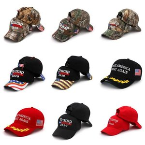 17 Styles Donald Trump Baseball Hat Star Usa Flag Camouflage Cap Keep America Great Hats 3D Embroidery Letter Adjustable Snapback DHD689