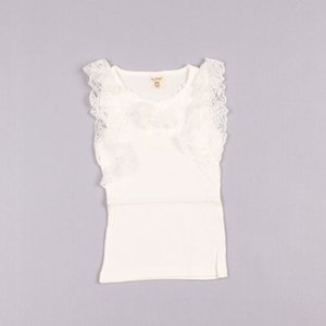 Clearance sale Children Tank Tops Kids Summer Candy Color Casual Vests Sleeveless T Shirt Fashion Lace Princess Tank Tops Z119