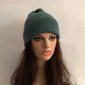 Casual New Winter Hat Solid Wool Blend Beanies Hats For Women Spring Fashion Wool Warm Skullies Beanies Hats Caps For Men Women