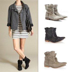 New Fashion Women Ankle Boots Female Autumn Winter Women's Martin Boots Flat Vintage Flat Square Heel Motorcycle Boots