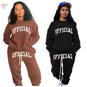Plus size xl 5xl sweatsuits para mulheres Dois peça definir letra impressão sweatpants tracksuit nova roupas de inverno atacado dropshipping