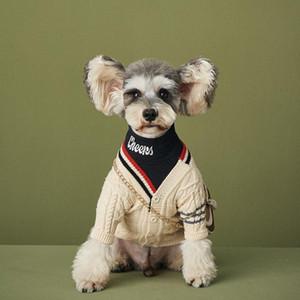 شحن مجاني الكلب سترة سترة الحيوانات الأليفة الحياكة قميص الكلاسيكية شريط الأزياء الحديثة style yorkie poodle 2 الألوان انخفاض الشحن